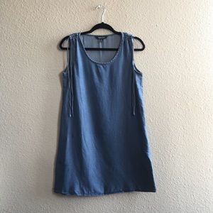 Ellen Tracy Denim Look Blue Tank Top Dress